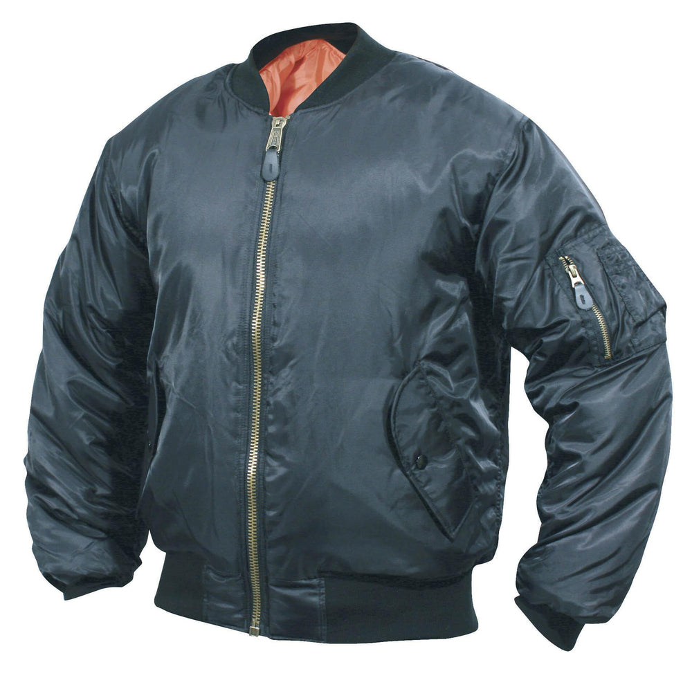 MA1 Nylon Flight Jacket in Black or Sage Green