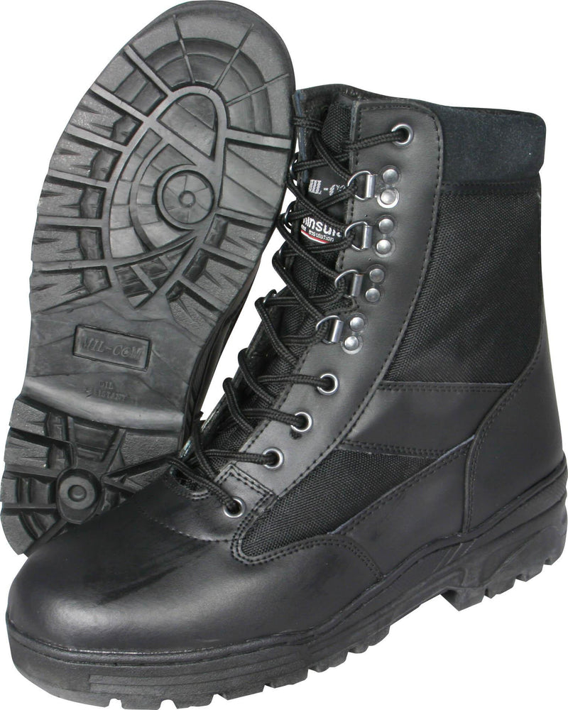 US Pattern Leather / Cordura Police Boots