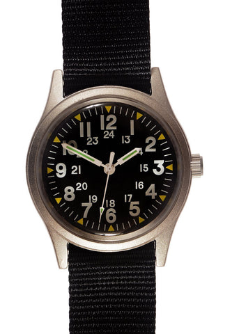 Military Industries MIL-W-46374A Vietnam War Pattern Watch on Webbing Strap