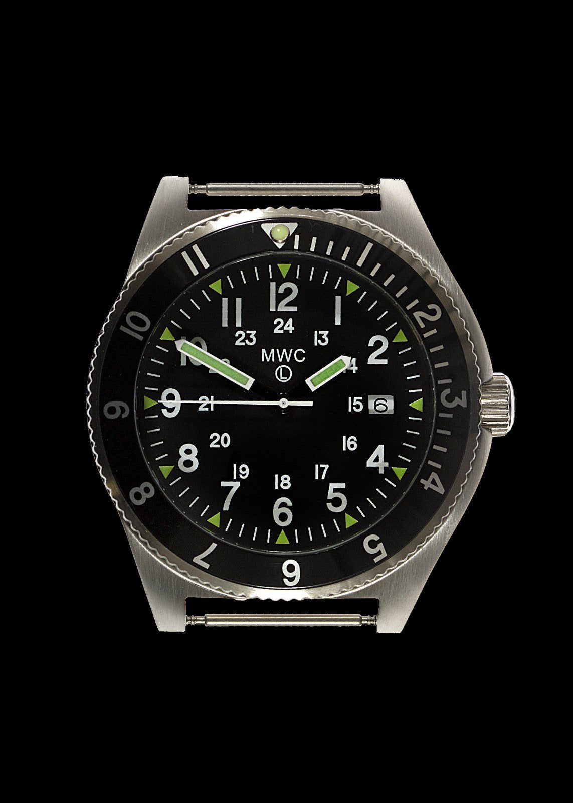 MWC 300m Water Resistant Stainless Steel Navigator Watch with Super Luminova