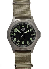 MWC G10 24 Jewel Automatic (100m Water Resistant) Stainless Steel Military Watch