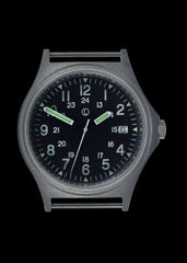 G10 100m Water resistant Military Watch with 12/24 hour dial in Stainless Steel Case with Screw Crown (Unbranded)