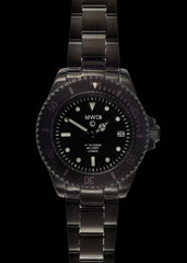 MWC 300m / 1000ft Black PVD Stainless Steel Hybrid Military Divers Watch on Matching Bracelet (Ex Display)