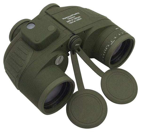 Military Specification  7 x 50 Gas Filled Binoculars with Compass, Reticle and LED Lighting