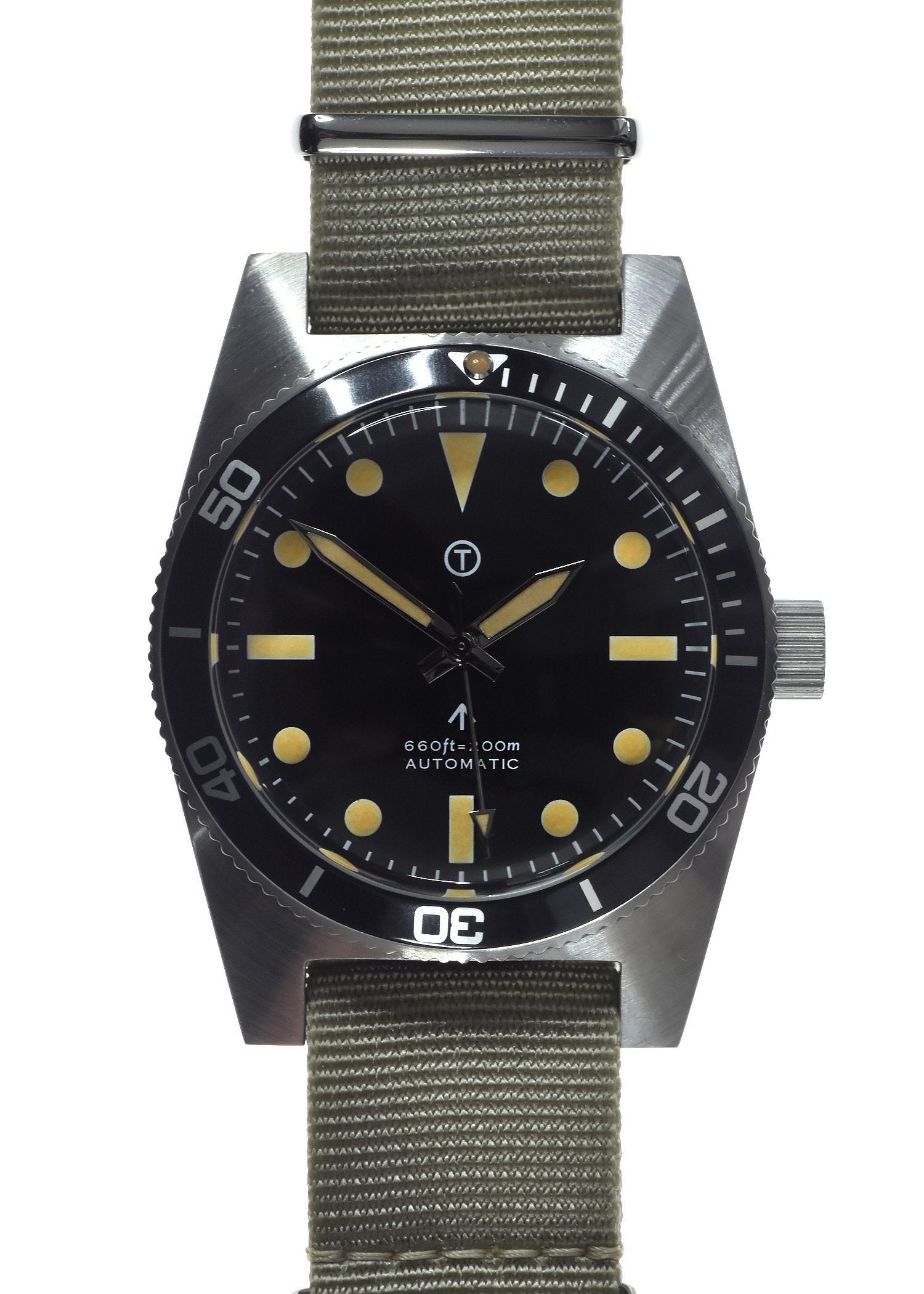 Military Industries 1970s Pattern Automatic 24 Jewel Stainless Steel Divers Watch (Non Date Version) Ex Display