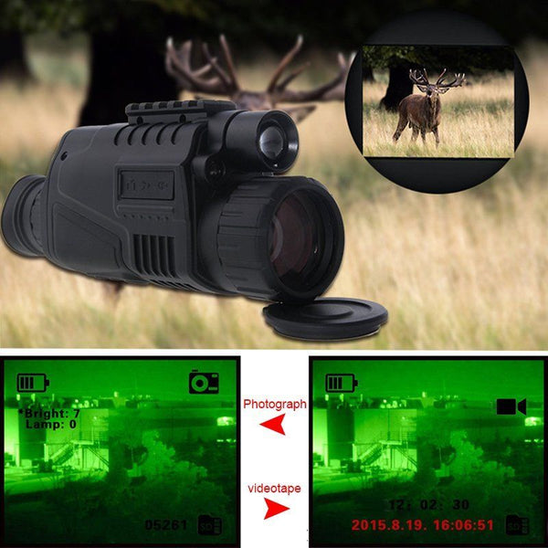 5 x Magnification Night Vision Monocular with IR and both Photographic and Video Capability