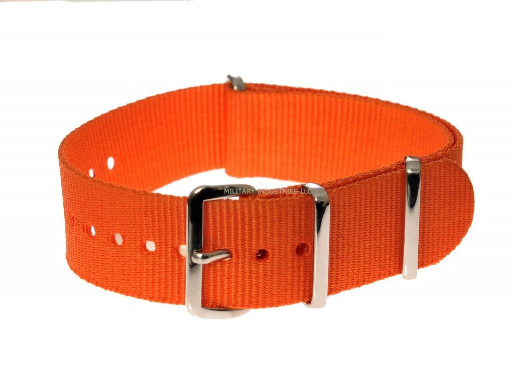 "Orange SAR ""Search and Rescue"" Pattern Ballistic Nylon Military Watch Strap"