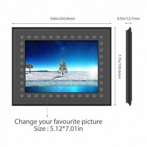 45 Day Battery Life WiFi Photo Frame Camera and DVR Remote Surveillance System