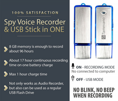 USB Flashdrive Covert Monitoring and Surveillance Voice Recorder