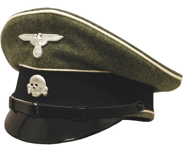 High Quality Reproduction WW2 Waffen SS Infantry Visor Cap with Piping