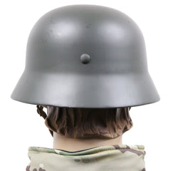 Replica German WW2 Pattern M35 steel helmet with leather lining