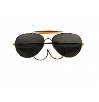 Military / Aviator Sunglasses (Smoke Grey Lenses)