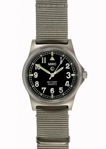 MWC G10 LM Non Date Stainless Steel Military Watch (Grey Strap) Needs Attention