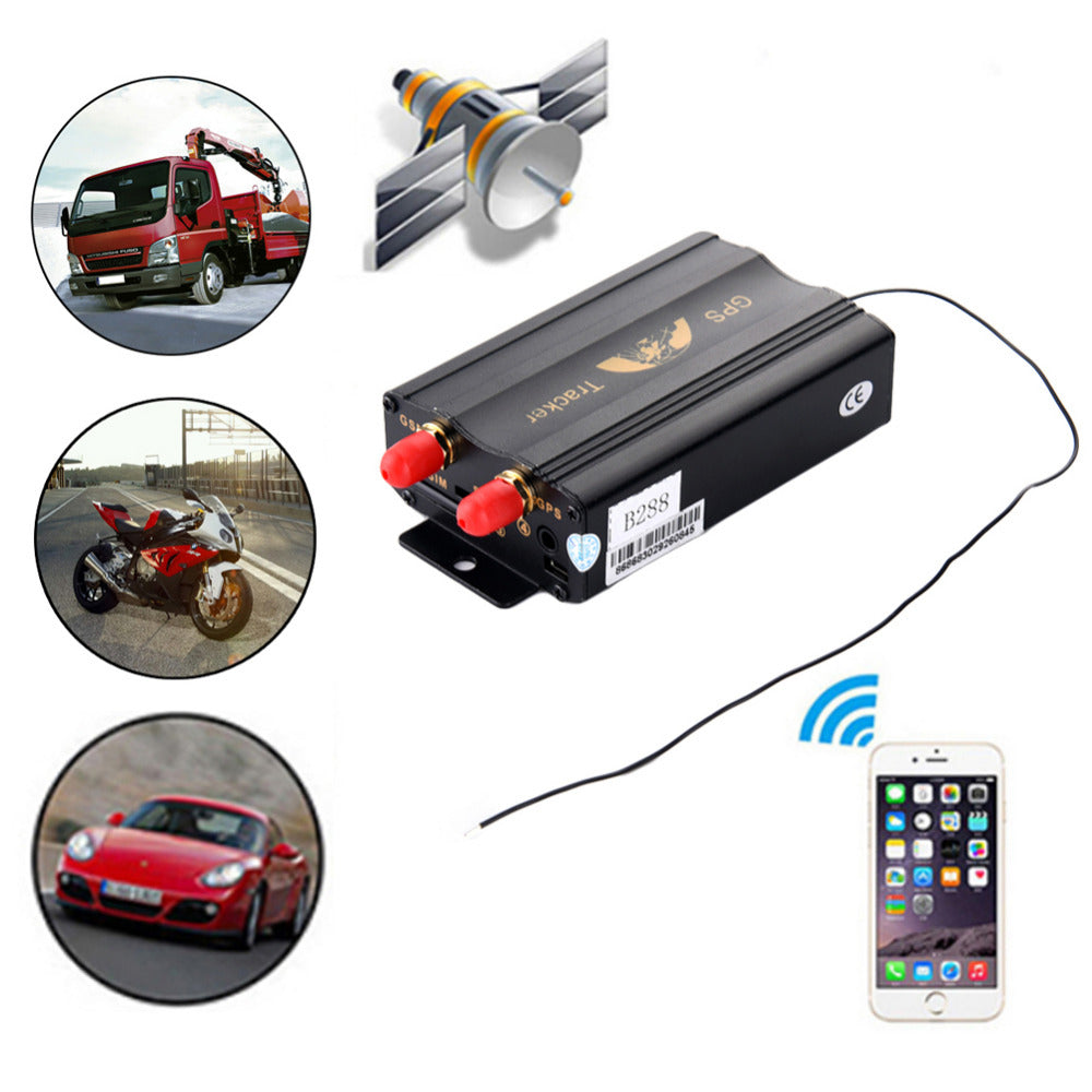 New TK103B Car GPS Tracker Waterproof Vehicle Locator Remote Control Monitoring Surveillance Emergency Alarm Cut Off Oil Power