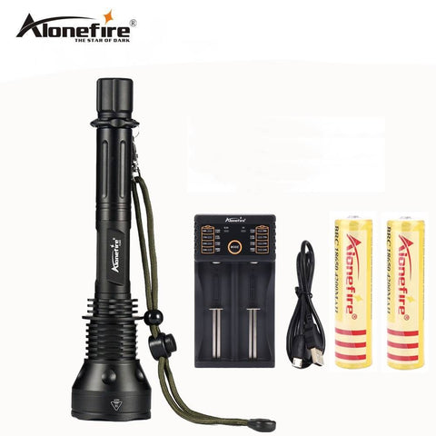 AloneFire X280 cree xml t6 powerful telescoping led flashlight tactical torch flash light self defense with 18650 battery