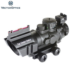 Tactical Vector Optics 4x32 Compact Rifle Scope Weapon ACOG .223 Gun Sight 3-Colour Illuminated 2 Options Reticle Free Shipping