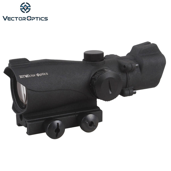 Vector Optics Tactical Condor 2x42 Green Red Dot Scope Weapon Sight with Front Iron Sight 2 Times Magnification