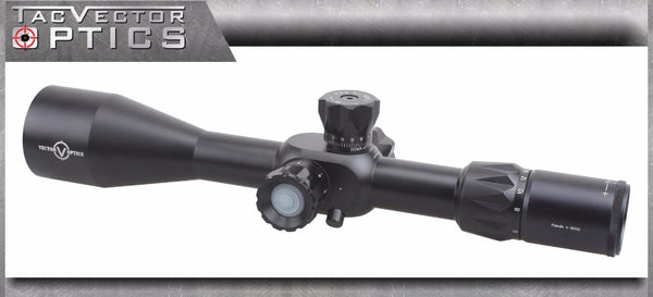Vector Optics Paladin 4-16x50 FFP First Focal Plane Tactical Riflescope 12.7mm .50 Rangefinding Ballistic Drop BDC Reticle