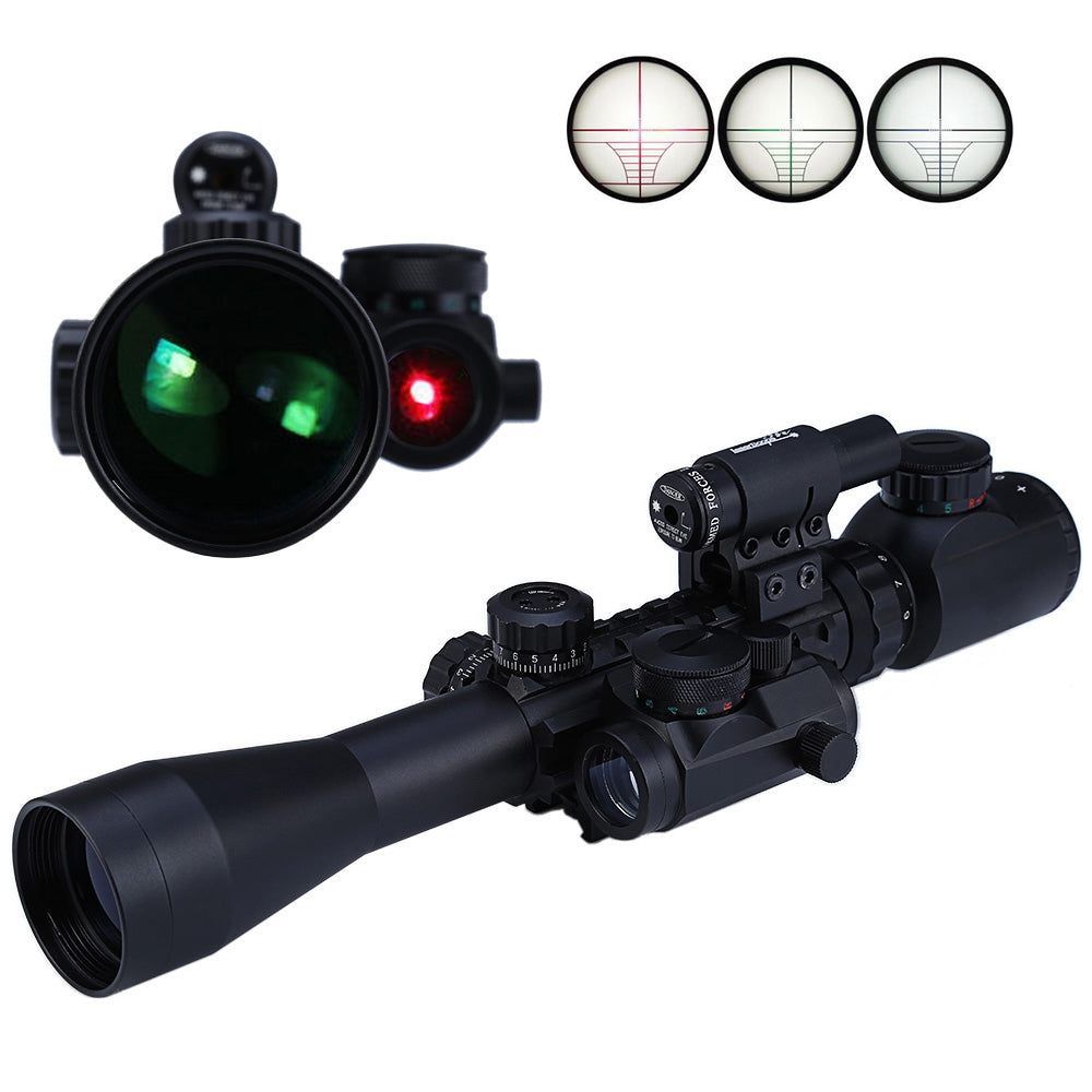 High Quality Telescopic Scope Sights 3 - 9X40EG Red / Green Illuminated Riflescope Weapon Optics Sniper Scope Sight for Hunting