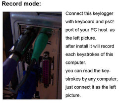 Keylogger Keystroke KL-2 Monitors All Activity on your target computer