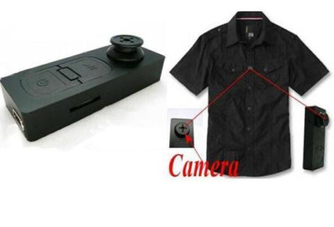 Discreet HD Video, Stills and Sound Button Camera (Picture resolution 1280 x 960)