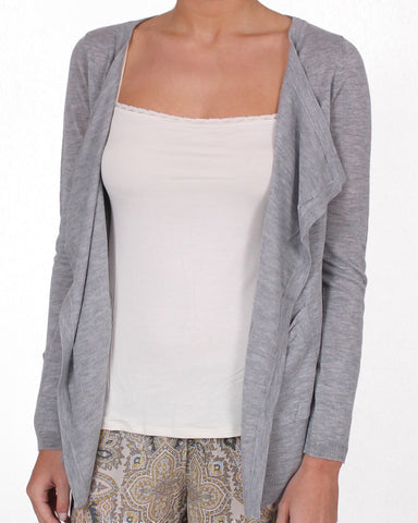 Touché, Lipped Open Front Cardigan, Womens Casual & Loungewear