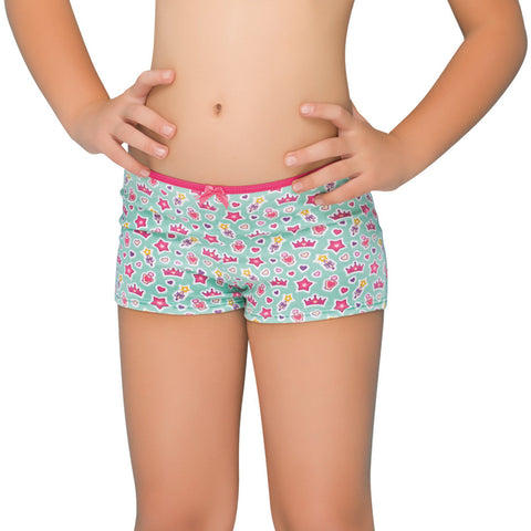 Formas Intimas 21646 Girls Short, Mint Green