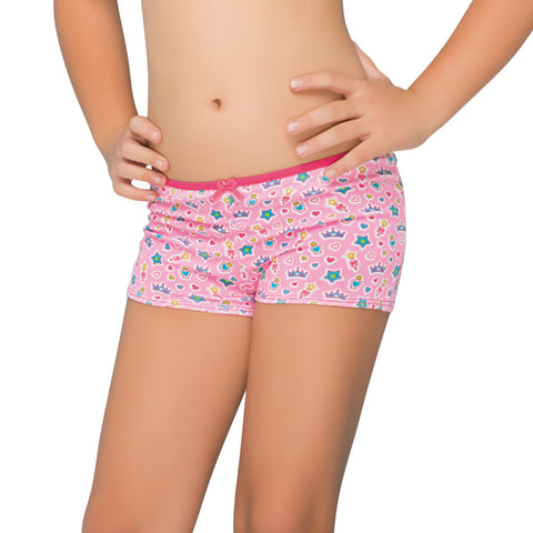 Formas Intimas 21646 Girls Short, Neon Pink
