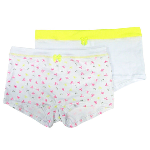 Formas Intimas 21650 Nenitas Girl's Short 2-Pack, White/Yellow