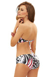 Kelinda Paradise Two Piece Halter Neck Bandeau Bikini, Women's Swimwear
