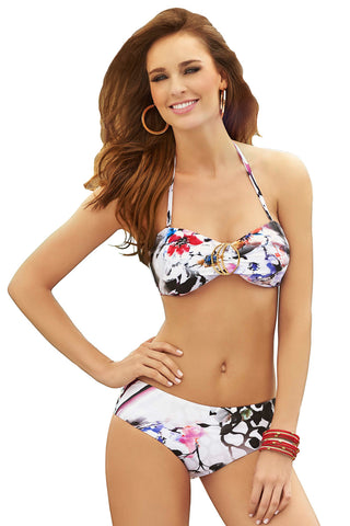 Kelinda Paradise, Two Piece Halter Neck Bandeau Bikini, Ladies Swimwear.