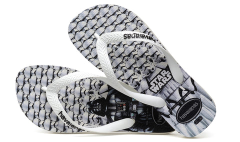 Havaianas Authentic Brazil, Star Wars Unisex Flip Flops, White