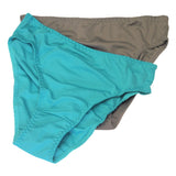 Formas Intimas 62002 Classic Comfort Knickers 2-Pack, Green/Taupe