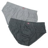 Formas Intimas 90005 Hispano Men's Brief 2-Pack, Light Grey/Dark Grey