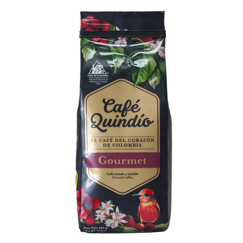 Café Quindío 100% Colombian Excelso Gourmet Ground Coffee, 500g Pack