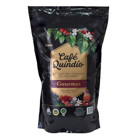 Café Quindío 100% Colombian Excelso Gourmet Whole Bean Coffee, 2.5kg Pack