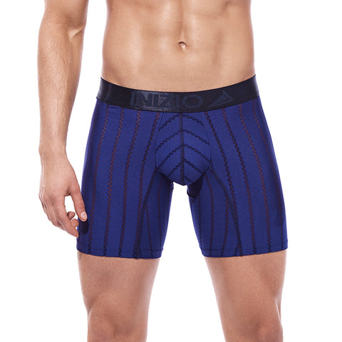 Inizio Boxer Long Leg Hinka Microfibre Men's Underwear, Dark Blue