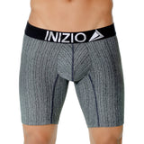 Inizio Boxer Long Perseo Microfibre Men's Underwear, Black