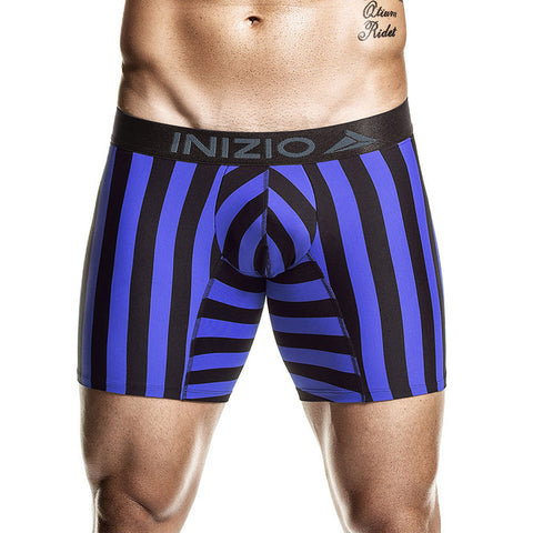 Inizio Boxer Long Unitel Microfibre Men's Underwear, Blue