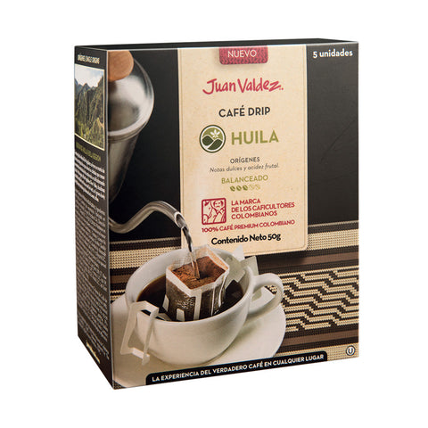 Juan Valdez® 'Drip' Huila Ground Coffee Sachets, 5 Pack