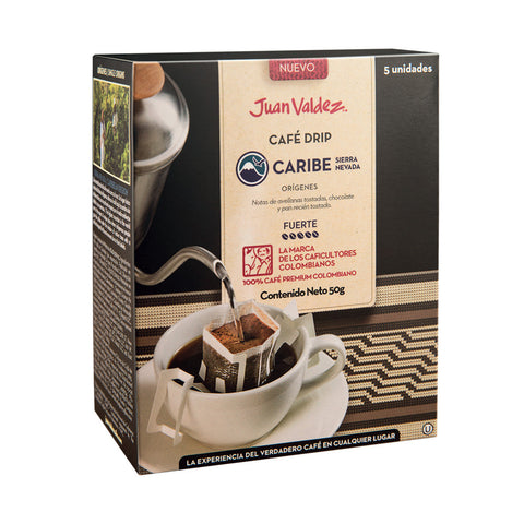 Juan Valdez® 'Drip' Sierra Nevada Ground Coffee Sachets, 5 Pack