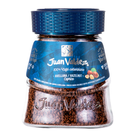 Juan Valdez® Instant Hazelnut Flavoured Freeze Dried Coffee, 95g Jar