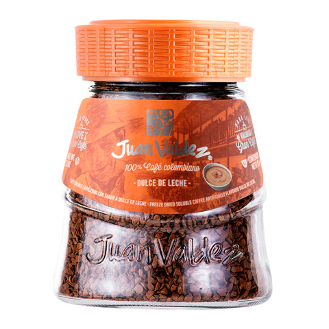 Juan Valdez® Instant Caramel Flavoured Freeze Dried Coffee, 95g Jar