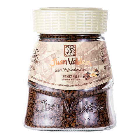 Juan Valdez® Instant Vanilla Flavoured Freeze Dried Coffee, 95g Jar