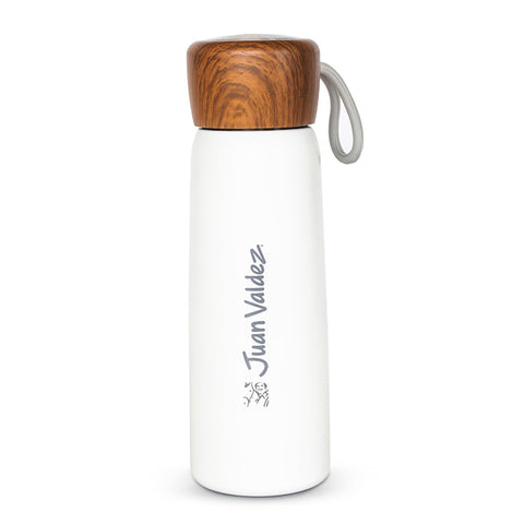 Juan Valdez® White Thermo Delicat Madera Vacuum Flask, 500ml