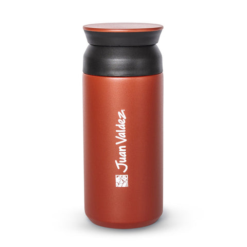 Juan Valdez® Red Thermo Tumbler Vacuum Flask, 350ml