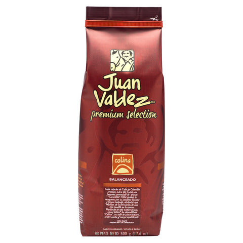 Juan Valdez® Premium Colina Whole Bean Coffee, 500g Pack