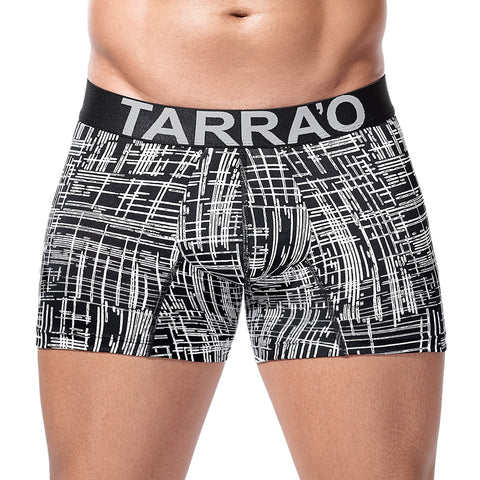 Tarrao Boxer Short Barra Microfibre Men's Underwear, Black