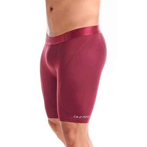 Tarrao Boxer Xtra Long Deportivo Microfibre Men's Underwear, Wine Red