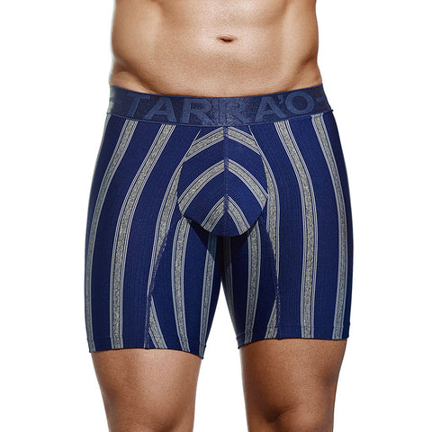 Tarrao Boxer Long Pixel Microfibre Men's Underwear, Blue